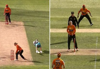 How many howlers can you count in this comically bad Super Over finish?
