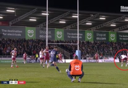 Joe Marler's sneaky tactic to distract kicker works an absolute treat
