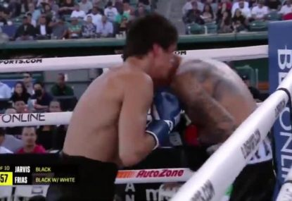 Aussie boxer's spectacular recovery moments away from 'disaster' to remain undefeated