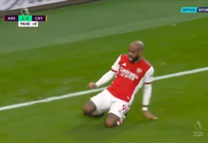 Dramatic scenes as Arsenal stun Crystal Palace with a late equaliser