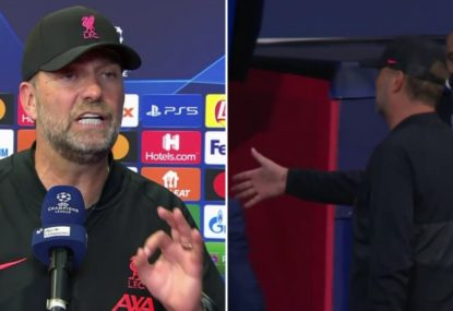 Jurgen Klopp savages a reporter who asks about his post-game handshake snub