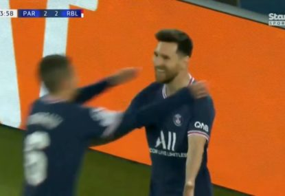 Lionel Messi surprises Leipzig goalkeeper with a cheeky Panenka penalty for the matchwinner