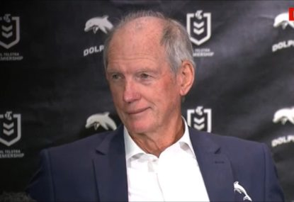 Wayne Bennett's cheeky quip about possible signings in first presser as Dolphins coach