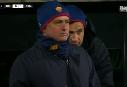 If looks could kill... Jose Mourinho puts Roma on notice after 6-1 thrashing by Norwegian team