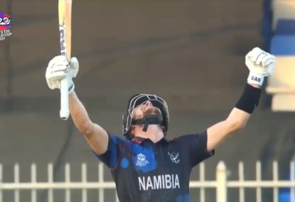 WATCH: Historic moment as Namibia shock Ireland to qualify for the Super 12 stage