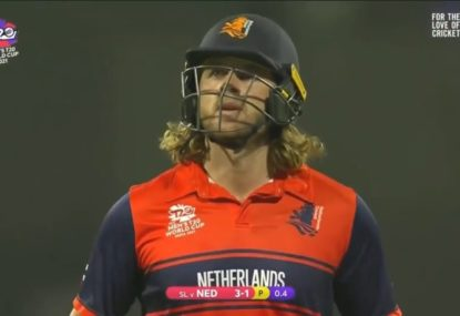 A cruel end to the T20 World Cup for the Netherlands' most popular cricketer