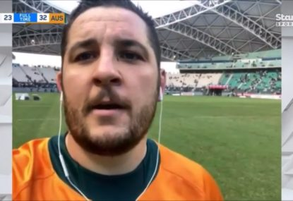 WATCH: Connal McInerney's heartwarming, hilarious interview after match-sealing try on debut