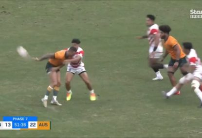 Outrageous 20m no-look Quade Cooper pass sums up Wallabies' Harlem Globetrotters try