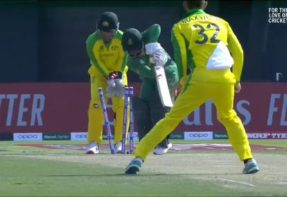 SA captain bafflingly castled by Maxwell ball that did absolutely nothing