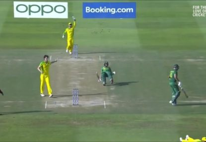 Cue the Benny Hill music for this magnificently village South African run out