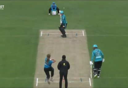 WBBL batter's crazy shot choice on a hat-trick ball gifts it to the bowler