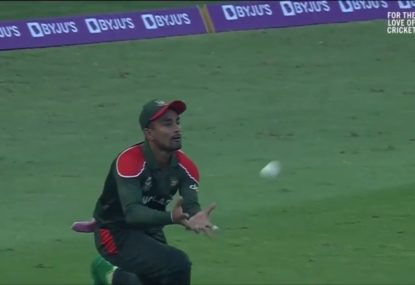 The same Bangladesh outfielder drops two sitters off Sri Lanka's top scorers