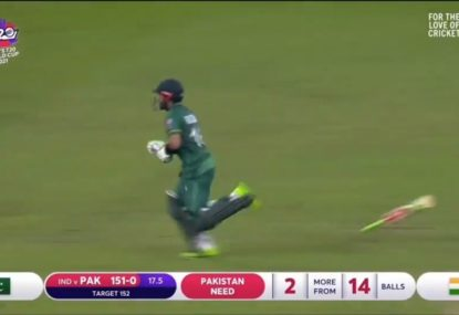 Pakistan's unbeaten openers celebrate accordingly after historic win over India