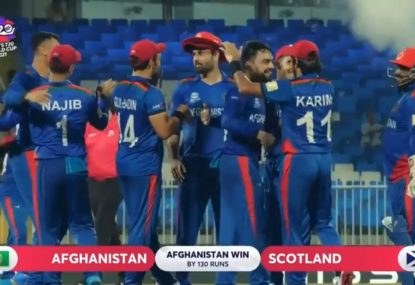 Afghanistan power into the record books with crushing T20 World Cup win over Scotland