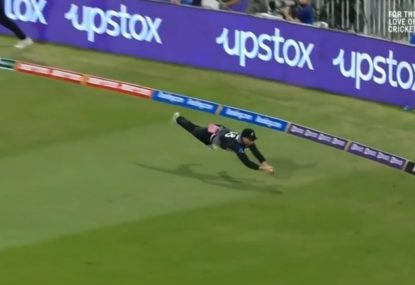 Devon Conway produces a stunning contender for catch of the tournament with amazing Superman dive