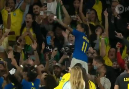 'Brazilian Carnival' in the stands after comeback draw against the Matildas