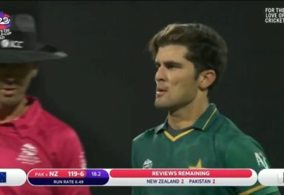 Shaheen Afridi has everyone in shock with his shambles of a LBW review