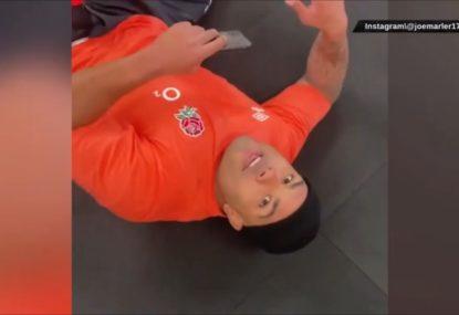 Joe Marler terrorises fellow England prop with classic training prank