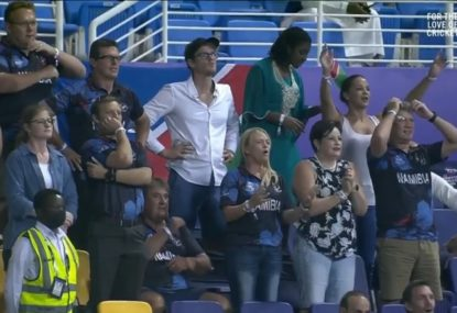 A few false alarms as Namibian fans were forced to amusingly wait for the winning runs